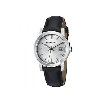 Burberry Bu9106 Women es Check Black Leather Strap Watch