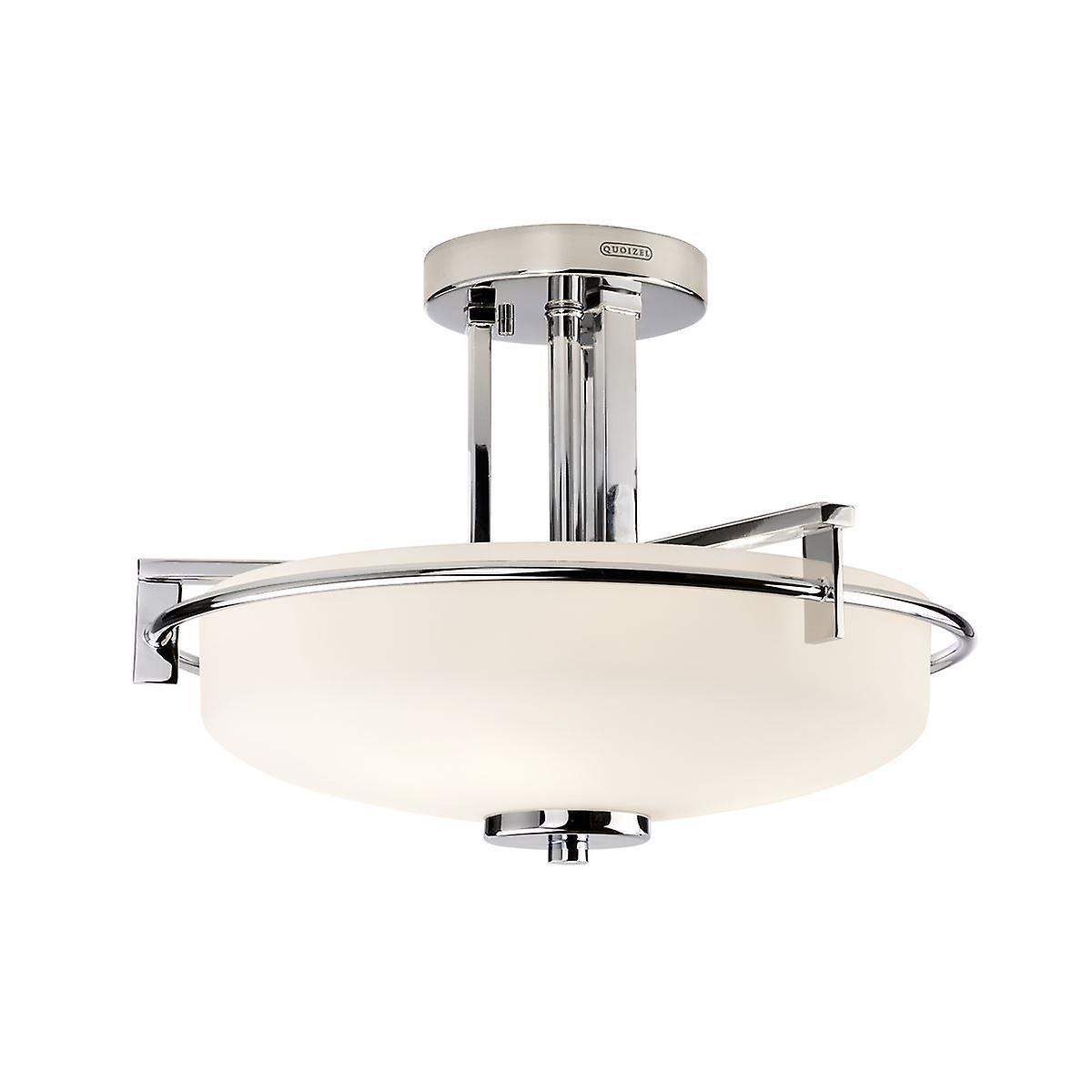Elstead - 3 lumière Semi Flush lumière - Polished Chrome Finish - QZ TAYLOR SFBATH