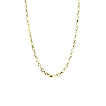Eternity 9ct Gold 18 ' ' kleine Diamond Cut boeren ketting