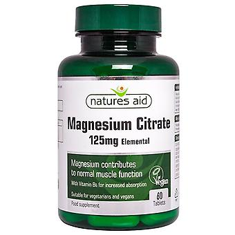 Nature's Aid Magnesium 125mg Citrate (with Vitamin B6) Tablets 60