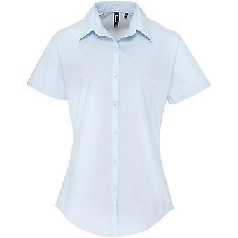 Premier - Women's Ladies Supreme Poplin Short Sleeve Shirt