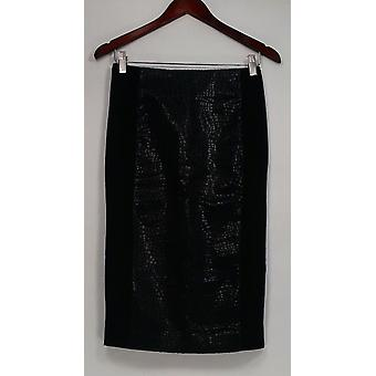 G.I.L.I. got it love it Skirt Printed Faux Leather Pencil Black A280971