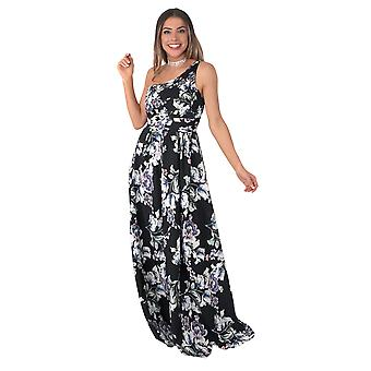 KRISP One Shoulder Floral Maxi Dress