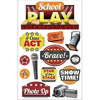 Paper House 3D Stickers-School Play STDM258E