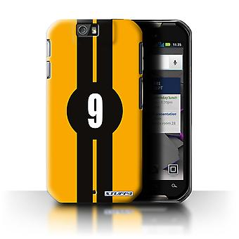 STUFF4 Case/Cover for Motorola IronRock/XT626/Ford/Yellow/Racing Car Stripes