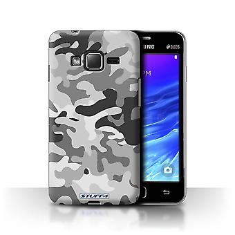 STUFF4 Case/Cover for Samsung Z1/Z130/White 1/Camouflage Army Navy