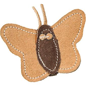 Dura Fused Leather Cat Toy -Butterfly 3.5