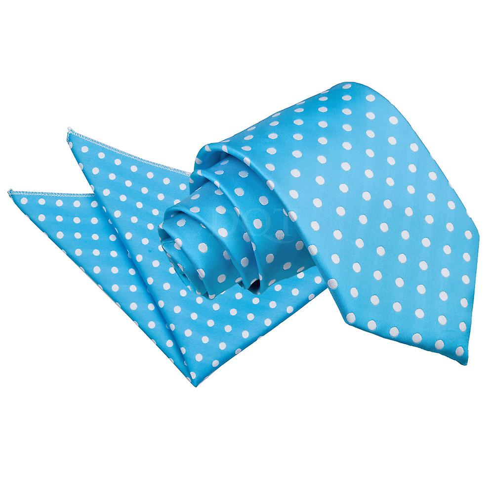 Polka Dot Robin's Egg Blue Tie 2 pc. Set