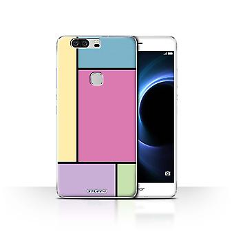 STUFF4 Case/Cover for Huawei Honor V8/5 Tiles/Pink/Pastel Tiles