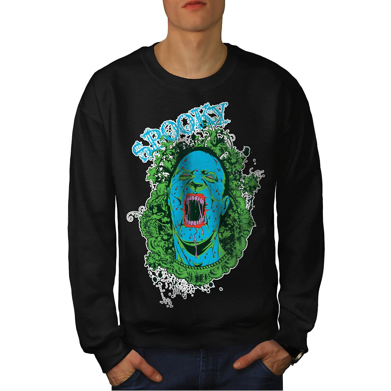 Spooky Vampire Ghost Horror Dead Men Black Sweatshirt | Wellcoda