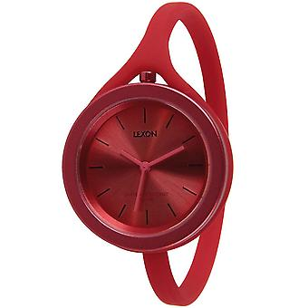 Red Lexon Take Time Aluminium Small Watch