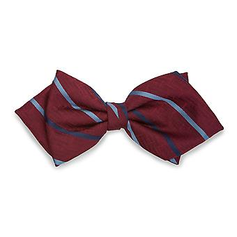 Frédéric Thomass striped bow tie Bordeaux Red