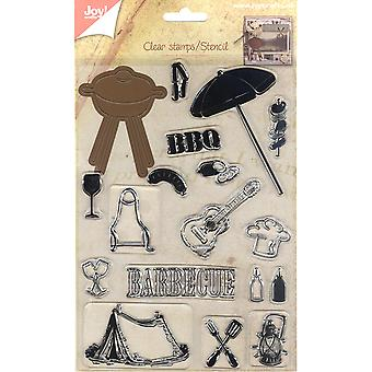 Joy! Crafts Cutting Die & Clear Stamp-Barbecue JC40004