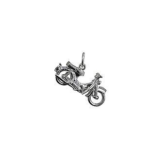 Silver 25x14mm Honda Motorbike Pendant or Charm