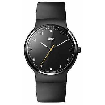 Braun Mens Prestige Black Rubber Strap Black Dial BN0221BKBKG Watch