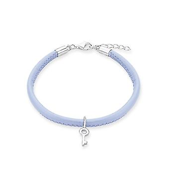 s.Oliver jewel children and adolescents bracelet silver leather key 2012806