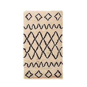 Berber Trellis Geometric Shaggy Rug