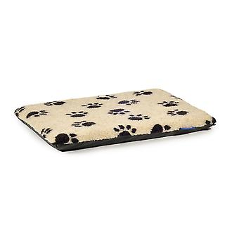 Sleepy Paws Paw Print Flat Pad Cream 91.5 X61cm