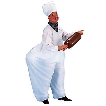 Chef Gourmet Fat Cook cuisine Restaurant drôle hommes Costume STD