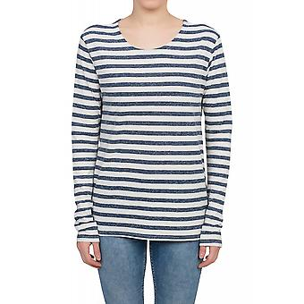 Lee Stripe Tee Longsleeve Sweater Damen Pullover Weiß gestreift