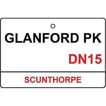 Scunthorpe / Glanford Park Street Sign Car Air Freshener