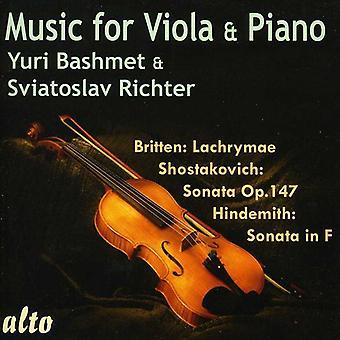Yuri Bashmet & Sviatoslav Richter - Music for Viola & Piano [CD] USA import
