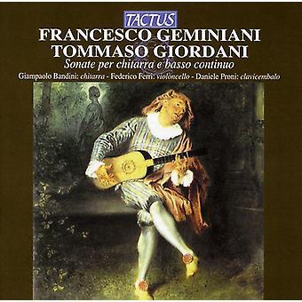F el. Geminiani - Francesco Geminiani, Tomasso Giordani: Importación de Estados Unidos Sonate por Chitarra E Basso Continuo [CD]
