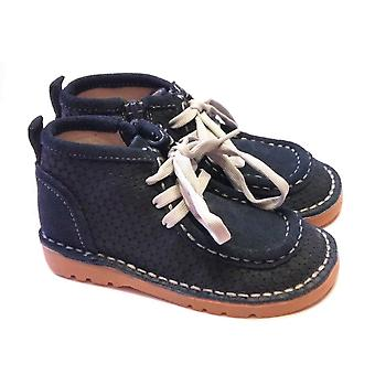 Livie & Luca Livie  Luca Boys Blue Suede Boots | Bailey Ankle Boot