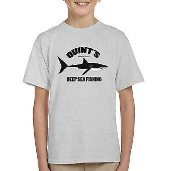 Quints Deep Sea Fishing Jaws Kid's T-Shirt