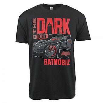 Batman Mens Batman Dark Knight Batmobile T-Shirt schwarz