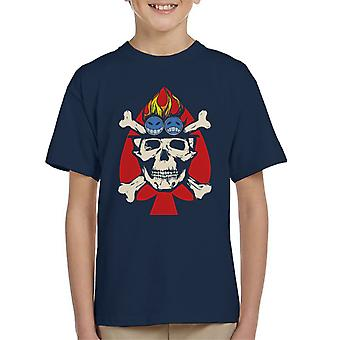 Fire Fist Aces Jolly Roger One Piece Kid's T-Shirt