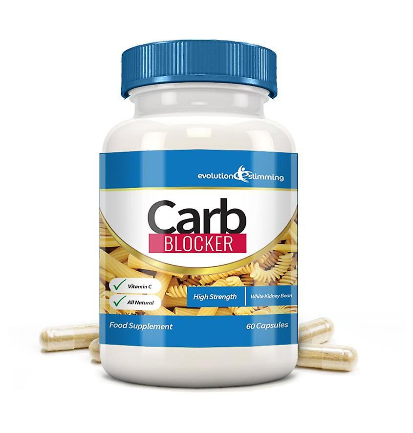 Carb Blocker with White Kidney Bean and Vitamin C - 60 Capsules - Carb Blocker - Evolution Slimming