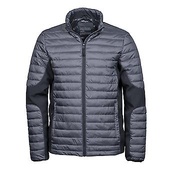 Teejays Mens Padded Full Zip Crossover Jacket