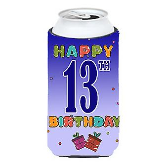 Happy 13th Birthday Tall Boy Beverage Insulator Hugger