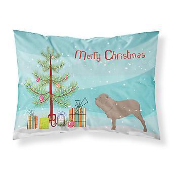 Neapolitan Mastiff Merry Christmas Tree Fabric Standard Pillowcase