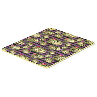 Watecolor Day of the Dead Halloween Kitchen or Bath Mat 20x30