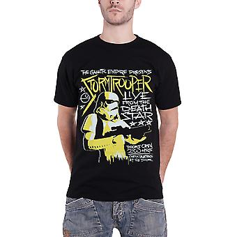 Star Wars T-Shirt Stormtrooper Rock Poster new Official Mens Black