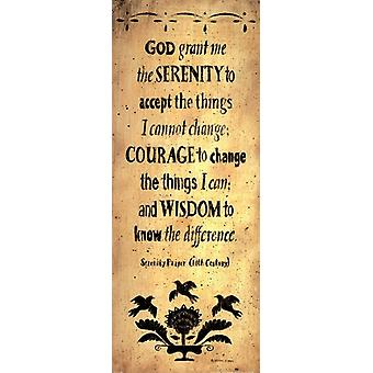 The Serenity Prayer Poster Print by Donna Atkins (8 x 20)