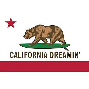 California Dreamin - Flag Poster Poster Print