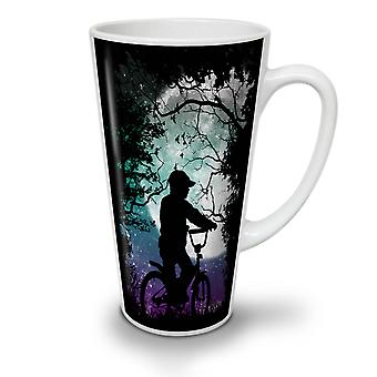 Silhouette Boy Nature NEW White Tea Coffee Ceramic Latte Mug 17 oz | Wellcoda