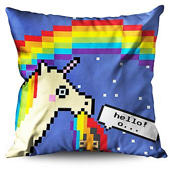 Unicorn Cool Stupid Funny Linen Cushion Unicorn Cool Stupid Funny | Wellcoda