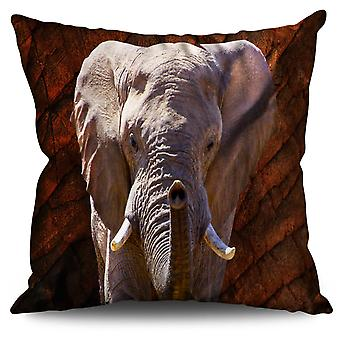 Elephant Safari Animal Linen Cushion Elephant Safari Animal | Wellcoda