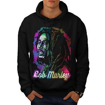 Bob Marley Freiheit Männer BlackHoodie | Wellcoda