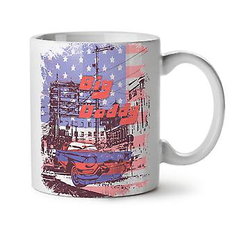 City Big Daddy Flag USA NEW White Tea Coffee Ceramic Mug 11 oz | Wellcoda
