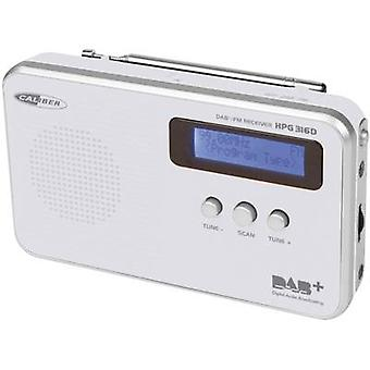 DAB+ Portable radio Caliber Audio Technology HPG316D DAB+, FM rechargeable White