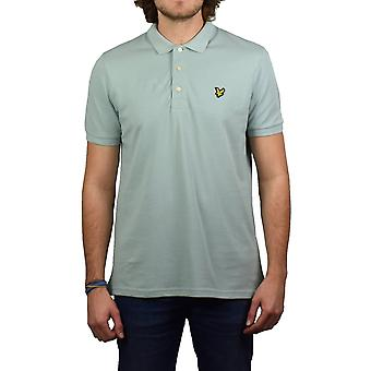 Lyle & Scott Short-Sleeved Plain Pique Polo Shirt (Powder Blue)