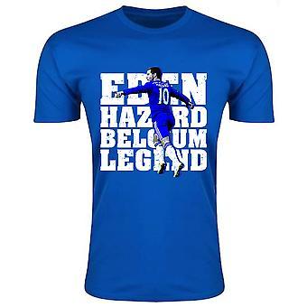 Eden Hazard Belgia legendy T-Shirt (niebieski)
