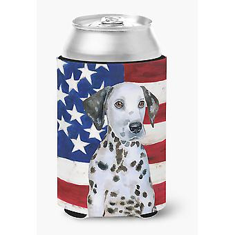 Carolines Treasures  BB9708CC Dalmatian Puppy Patriotic Can or Bottle Hugger