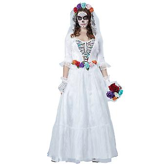 La Novia Muerta Deluxe Ghost Bride Day Of The Dead Mexican Womens Costume