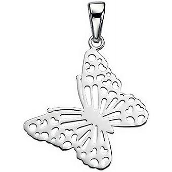 Beginnings Cut Out Butterfly Pendant - Silver
